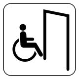 Door for invalid   sign vector Stock Photo
