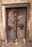 Door in Iran. Brown door whit knocker in Iran Royalty Free Stock Image