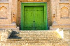 The door of Islamic house royalty free stock photo