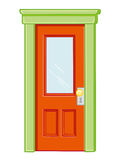 Door isolated illustration Stock Photography
