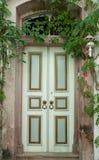 Door with ivy. Door of an old Greek house in Cunda Ayvalik Stock Images