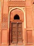 Door in Jahangiri Mahal, Agra Fort, Uttar Pradesh, India Royalty Free Stock Images