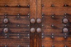 Door of japanese old castle Royalty Free Stock Photo