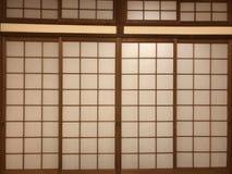 Door. Japanese style push-pull door royalty free stock photography