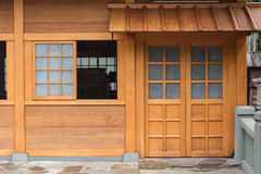 Door in japanese style Royalty Free Stock Photo