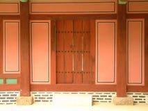 Door at Jongmyo (Royal Shrine), Seoul. Door to subsidiary shrine at Jongmyo stock photo