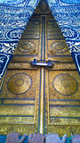 Door of Kaaba. Picture of the door of Kaaba, its golden Inscribed with Koranic verses and decorations Stock Photography