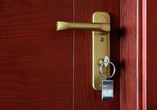 Door with key Royalty Free Stock Photo
