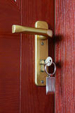 Door with key Royalty Free Stock Images