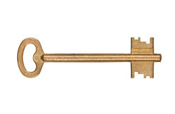Door key isolated Royalty Free Stock Image