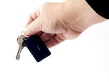 Door Keys. Residential door keys being passed to new owner Royalty Free Stock Photography