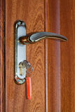 Door and keys Royalty Free Stock Photos