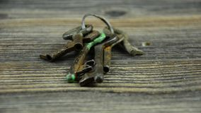 Door keys. A bunch of old keys. 17. Door keys. A bunch of old keys. 17 stock video footage