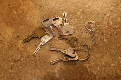 Keys on countertop stock images