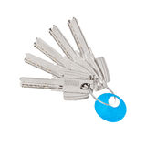 Door keys isolated Royalty Free Stock Photo