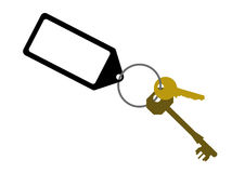 Door keys with  key tag Royalty Free Stock Photo