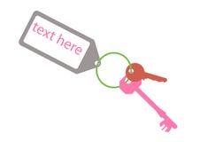 Door keys with  key tag Stock Image