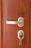 Door and keys to your new home. Soft light royalty free stock photography