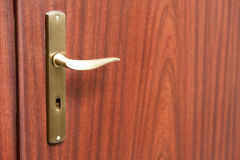 Door and keys to your new home stock photos