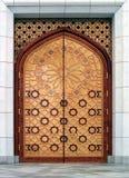 Door (the Kiptchak mosque in Turkmenistan). The Kiptchak mosque is the largest mosque in Central Asia Royalty Free Stock Photos