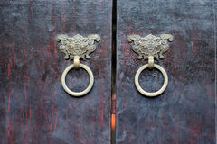 Door and kirin Royalty Free Stock Photos