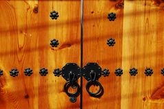 Traditional Korean wooden door knob Stock Images
