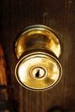 Door knob. Golden knob security door that expresses strength Royalty Free Stock Image