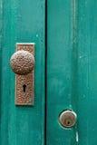 Door knob,Antique door knob. Royalty Free Stock Photography