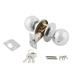 Door Knob assembly on White Background royalty free stock photo