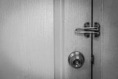 Door knob. Black and white Stock Photos