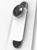 Door knob with blank label Royalty Free Stock Photography