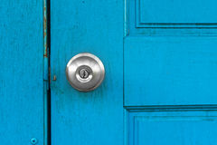 Door with knob Royalty Free Stock Image