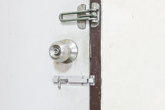 Door knob, bolts Royalty Free Stock Photos