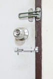 Door knob, bolts Stock Photos