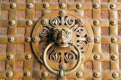 Door knob detail. In Madrid, Spain Royalty Free Stock Photo