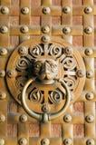Door knob detail. In Madrid, Spain Royalty Free Stock Photos