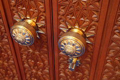 Door knob in Grand Mosque Royalty Free Stock Image