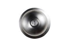Door knob. Isolated metal door knob on the white background stock photos