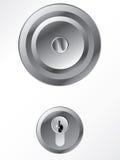 Door knob with lock Stock Images