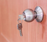 Door knob locks with keys. Royalty Free Stock Photography