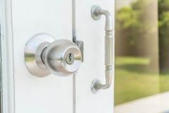 Door knobs. Or aluminum door Royalty Free Stock Image