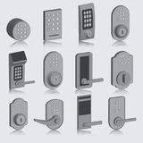 Door knobs collection set Royalty Free Stock Photos