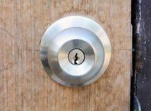 Door Knobs. Wooden background 02-13-2015 Stock Images