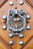 Door knocker. In the form of woman with wings Stock Images