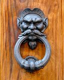 Door knocker #2. Metallic door knocker from Italy Stock Photos