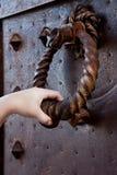 Door knocker. Image of ancient door knocker Stock Image