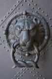 Door knocker. With lion head stock photography