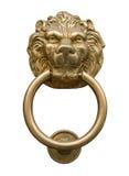 Door knocker. Lion's head door knocker isolated on white Stock Images