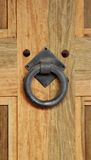 Door Knocker. Old wood door  with  Door Knocker Royalty Free Stock Images