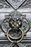 Door knocker. The iron doors of the Cologne Cathedral Stock Images